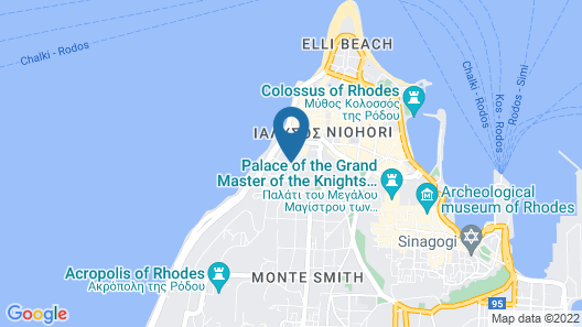 Semiramis City Hotel Map