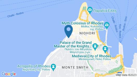 Agla Hotel Map