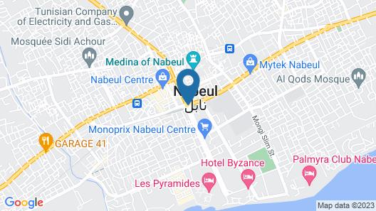 Bel Appartement Récemment Construit Dans la Ville de Nabeul Map