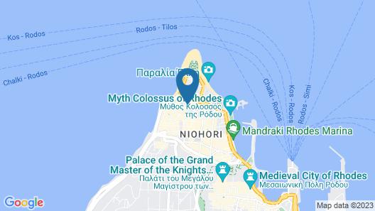 Mitsis Petit Palais Beach Hotel Map