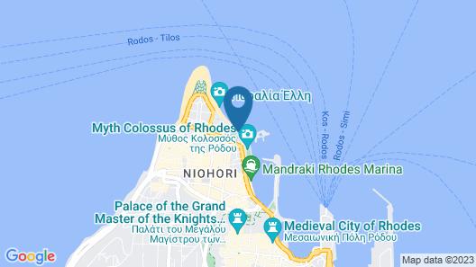 Cook's Club City Beach Rhodes Map