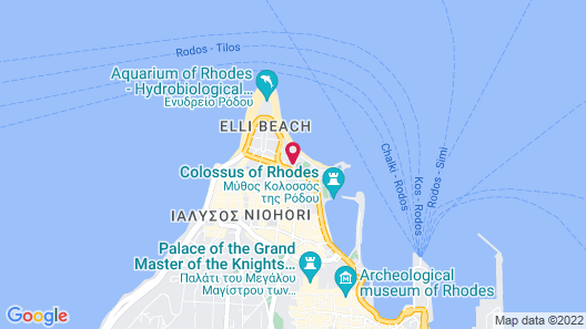 Grande Albergo Delle Rose - Casino Rodos- Adults Only Map