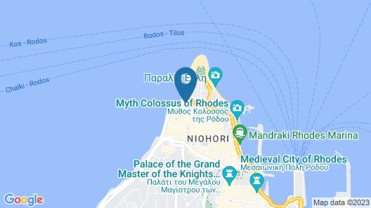 Mitsis Grand Hotel Beach Hotel Map