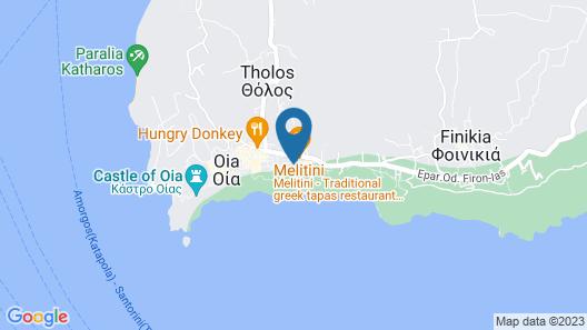 Santorini Secret Suites & Spa Map