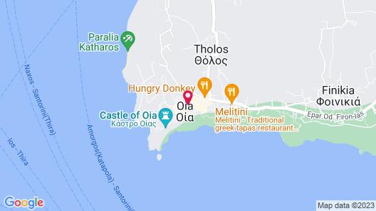 Mystique, a Luxury Collection Hotel, Santorini Map