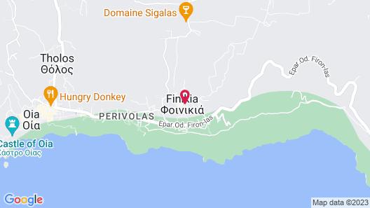 Edem Luxury Hotel Santorini Finikia Map