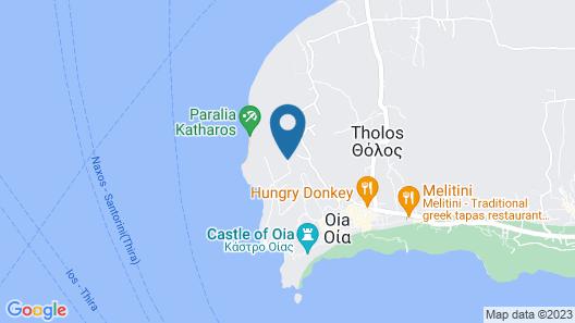 Oia Sunset Villas Map
