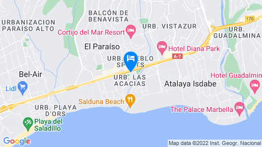 Senator Banús Spa Hotel - Adults Only Map
