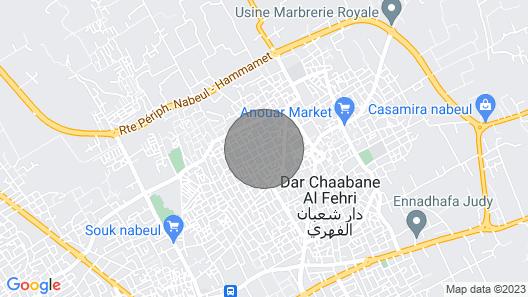 EL FELL Dar Oufa BEACH Map