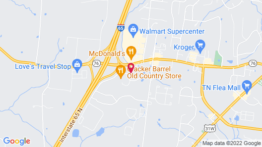 Motel 6 White House, TN Map