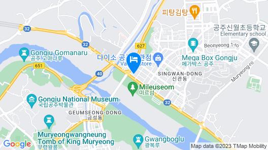 Hotel Fun&Fork Gongju Map
