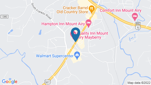 Quality Inn Mount Airy Mayberry Map
