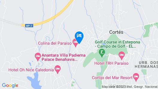 Colina del Paraíso by Checkin Hoteles Map