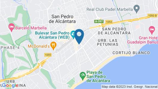 Aqua Apartments Marbella Map