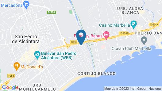 Globales Pueblo Andaluz Map