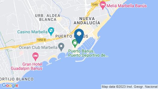 OleHolidays 334 Centro Puerto Banús 50m Playa Map
