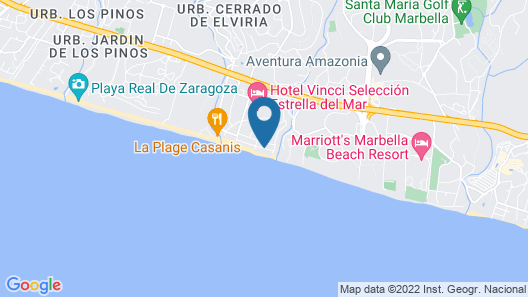 Beach front villa with private pool Map