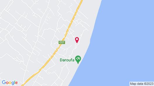 Yasmine Dar Oufa Beach Map
