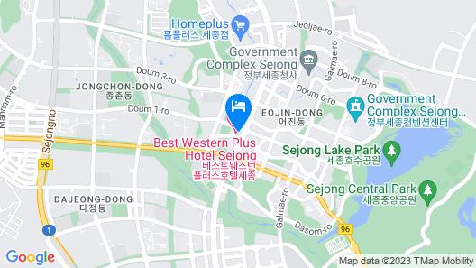 Best Western Plus Hotel Sejong Map
