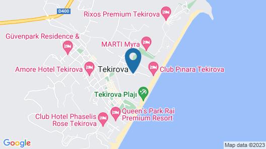 Güral Premier Tekirova - All Inclusive Map