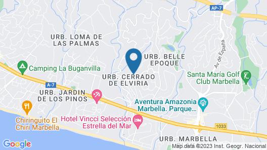 Villa Issabella Marbella, Elviria Map
