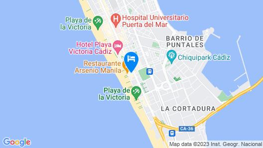 Primera Línea playa Victoria Map