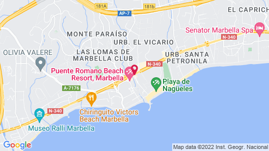Nobu Hotel Marbella Map