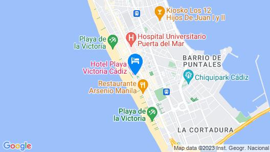 Hotel Spa Cádiz Plaza Map