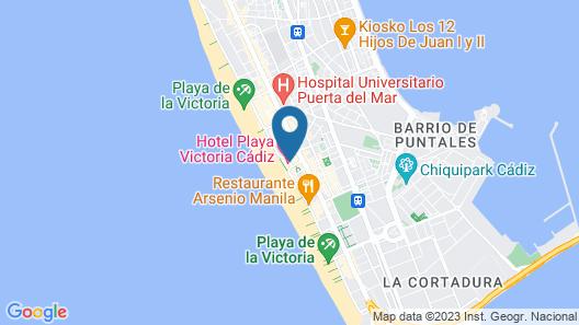 Playa Victoria Map