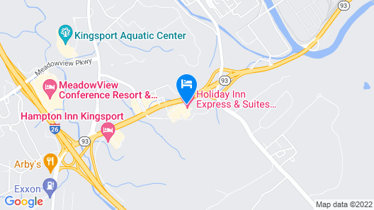 Holiday Inn Express Hotel and Suites Kingsport, an IHG Hotel Map