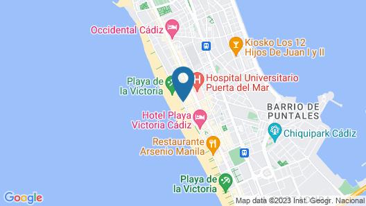 Hotel Cádiz Paseo del Mar Affiliated by Meliá Map