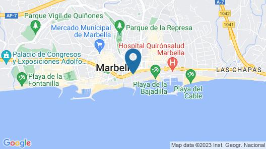 Amàre Beach Hotel Marbella Map
