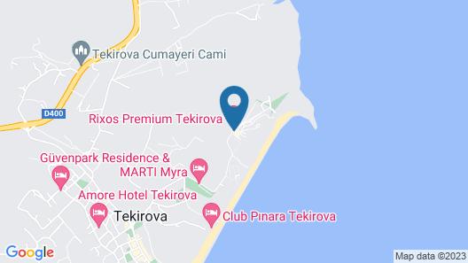 Rixos Premium Tekirova - All Inclusive Map