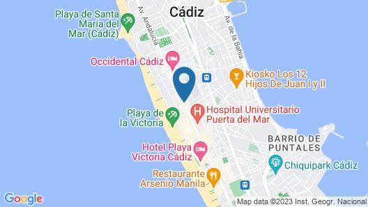 Hotel Regio Cadiz Map