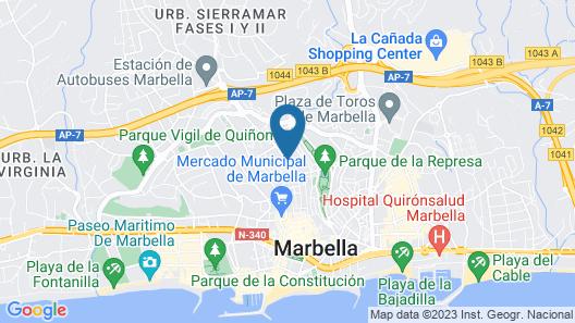 Marbella Inturjoven Youth Hostel Map