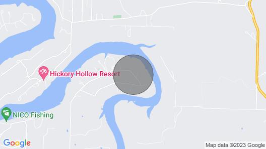 Waterfront Lake House on Table Rock Lake Map