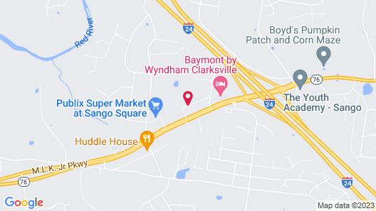 Super 8 by Wyndham Clarksville East Map
