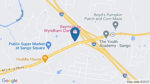 Baymont by Wyndham Clarksville Map