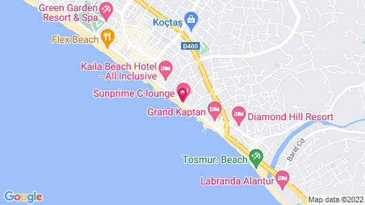 Sunprime C-Lounge Hotel - Adults Only Map
