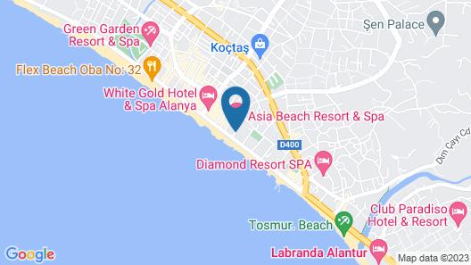 Asia Beach Resort & Spa Hotel Map