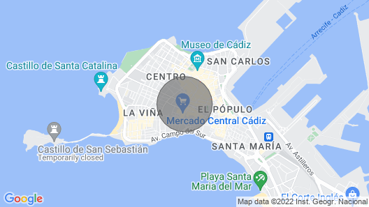 Luxury accommodations in the heart of Cadiz Map