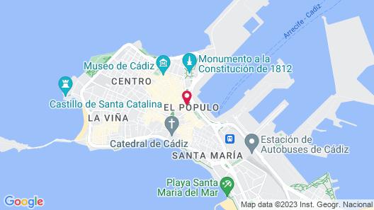 Cádiz INN Apartments & Suites Map