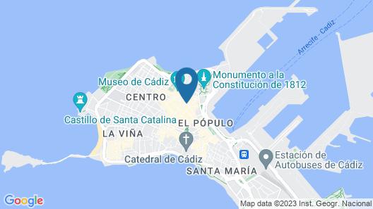 Hotel Las Cortes De Cádiz Map