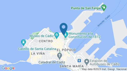 Hotel Casa de las Cuatro Torres Map