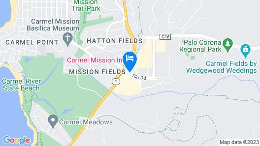 Carmel Mission Inn Map