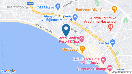 Ananas Hotel - All Inclusive Map