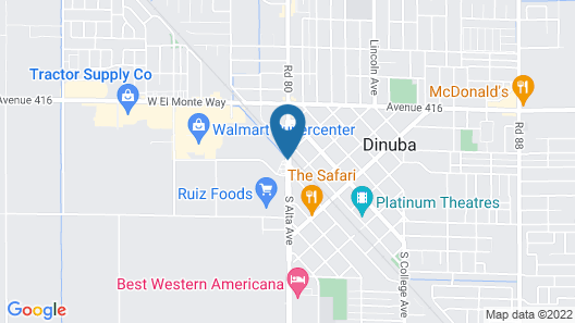 Holiday Inn Express Hotel & Suites Dinuba West Map