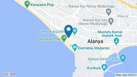 Kleopatra Carina Hotel Map