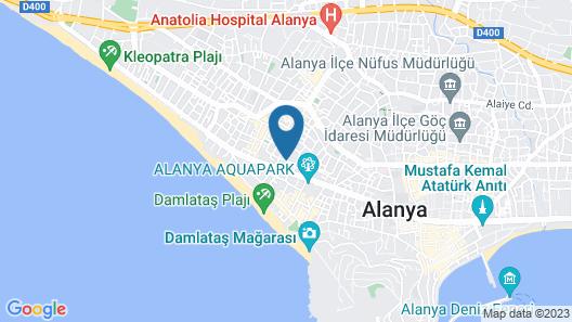 Alanya Damlatas Apart Hotel Map