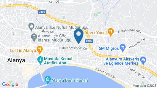 Okan Tower Apart Hotel Map